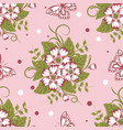 seamless pattern with beautiful flowers and vector image vector image