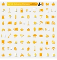 Set of autumn stickers vector image vector image