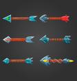 Set of fantastic arrows-2 vector image