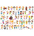 set of people character vector image vector image