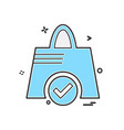shopping bag icon design vector image