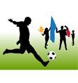 soccer fun vector image