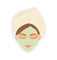 Spa center design Woman face icon graphic vector image vector image