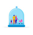 stay at home protect your family quarantine area vector image vector image