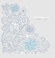 summer floral design vector image