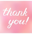 Thank you hand made brush lettering vector image vector image