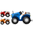 tractors in three colors vector image