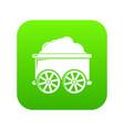 train wagon icon green vector image vector image