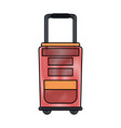 travel suitcase bag vector image vector image