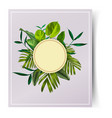 tropical leaf card vector image vector image