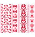 valentines day seamless vertical pattern vector image vector image
