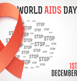 World Aids Day Stop Aids 1th december Brochure vector image vector image