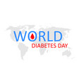 world day diabetes icon diabetic awareness vector image vector image