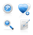 site navigation icons vector image