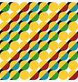 geometric pattern of circles vector image