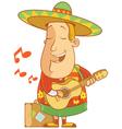 tourist sombrero ukulele vector image