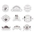 Set of vintage decorations labels vector image