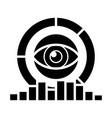 analytics - marketing research diagrams eye icon vector image