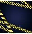 Danger yellow tape grunge background vector image