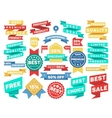 Vintage label banner tag sticker badge set vector image