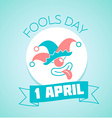 1 April Fools Day vector image