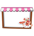 a pig chef note template vector image vector image
