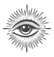 all seeing eye providence masonic symbol vector image vector image