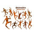 animation human body anatomy people in motion vector image