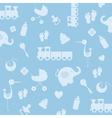 Background baby boy vector image