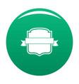 badge emblem icon green vector image vector image