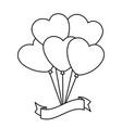 balloon in heart shape icon vector image vector image