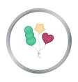 Baloons icon in cartoon style isolated on white vector image vector image