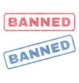 banned textile stamps vector image vector image