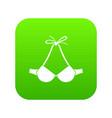 beach bra icon green vector image vector image