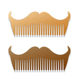 Beards plain vector image vector image