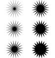 Black and white abstract shapes starburst sunburst