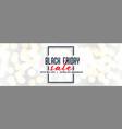 Black friday white sale bokeh banner design