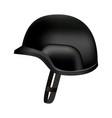 black protect police helmet mockup realistic vector image