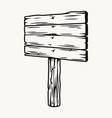 blank wooden sign board on pole vector image