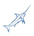 Blue Marlin fish vector image vector image