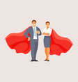business people superheroes vector image vector image