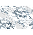 chinese landscape japanese pattern oriental vector image