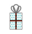 christmas gift box wrapped ribbon celebration vector image vector image