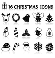 Christmas icons set black vector image vector image
