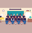 class group portrait classmates student in vector image vector image