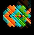 color arrows on black background vector image vector image