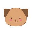 cute dog woodland character vector image vector image