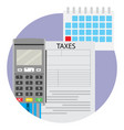 date of taxation icon app vector image vector image