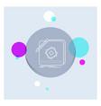design app logo application design white line vector image vector image