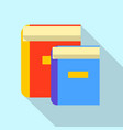 education book icon flat style vector image vector image